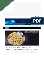 6 Ciclos Planetários Que Afetam Enormemente Sua Vida - Astrologia Sistêmica