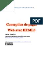 Conception de Pages Web Avec HTML5