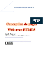 Conception de Pages Web Avec HTML5