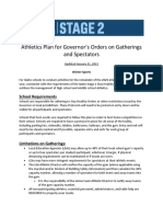 Athletics Plan for Governors Orders on Gatherings and Spectators_1.21.2021