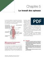 Le travail des spinaux C5