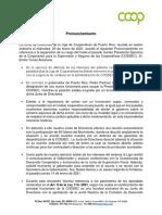 Pronunciamiento Liga de Cooperativas-20 Ene 2021