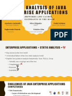 Static Analysis of Java Enterprise Applications