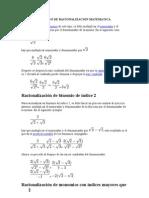 Proceso de Racionalizacion Matematica