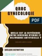 gynecologie  QCM & CROQ