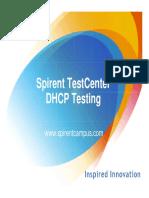 Spirent TestCenter DHCP V3