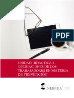 UNIDAD DIDÁCTICA 4. OBLIGACIONES DE LOS TRABAJADORES EN MATERIA DE PREVENCIÓN 20-21