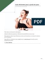 Os 20 Alimentos Mais Eficientes Para a Perda de Peso