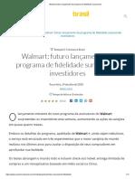 Walmart_ futuro lançamento de programa de fidelidade surpreende