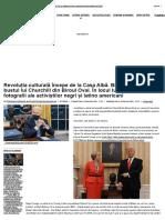 Revoluția culturală începe de la Casa Albă. Biden dă afară bustul lui Churchill din Biroul Oval. În locul lui, statuete și fotografii ale activiștilor negri și latino americani _ ActiveNews