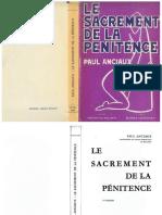 ANCIAUX Paul, Le Sacrement de La Pénitence