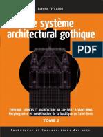 CECCARINI, Le Systeme Architectural Gothique