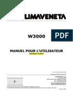 w3000 Manuel Pour l'Utilisateur