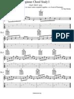 Guitar Beginner Chord Study I
