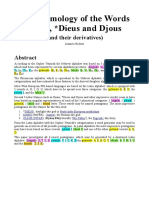 The Etymology of the Words Diaus, Dieus and Djous (and their derivatives)