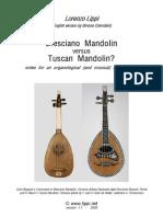 Bresciano Mandolin Versus Tuscan Mandoli