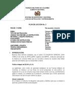 JUEVES PLAN DE LECCIÓN No. 3 CORTESIA MILITAR