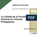 La calidad de la formacion doct - Ortiz Torres, Emilio Alberto