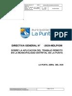 Directiva de Trabajo Remoto La Punta Callao Actualizada 20-04-2020