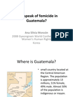 Why speak of femicide in Guatemala