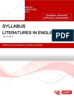 CAPE Literatures in English Syllabus(41 Pages)