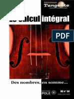 [Tangente, Hors-série N° 50] Gilles Cohen (ed.) - Le calcul intégral _ Des nombres, en somme... (2014, POLE) (1)