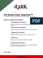 Guide de l'utilisateur Lexmark 510 Series