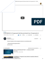 (26) IA NOTEBOOK #4 _ Programando Red Neuronal desde Cero! _ Programando IA - YouTube