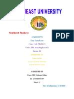Marketing Research - Finalterm Exam