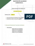 TAREAS DE MTTO - DOMINGO 30 AGOSTO