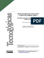 Cálculo Del Umbral Para Detección De Onda R en Complejo QRS