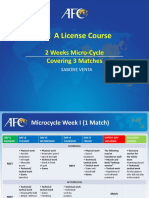 "AFC ""A"" License -Micro Cycle 3 Matches by Coach. Sabone Venta"