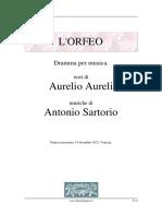 SARTORIO - ORFEO - LIBRETO