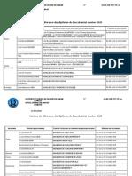 Centres de Delivrance Des Diplomes Du Baccalaureat Session 2020