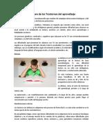 Resumen de trastornos del aprendizaje