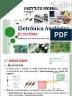 8 - Eletrônica Geral - IFS - DIODO - Diodo Zener 2019-2