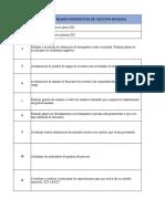 Lista de actividades pendientes de Gestión Humana