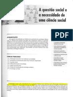 2. DIAS, Reinaldo. A questão social e a necessidade de uma ciência social. p. 19-41