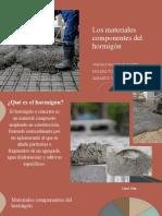 MATERIALES COMPONENTES DEL HORMIGÓN GRUPO 8