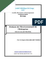 Analyse de l'Environnement M1 FBA-EFGE UCC