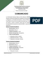 COMUNICADO-ASPECTOS A CONSIDERAR PARA EL EXAMEN DE LA MAESTRIA