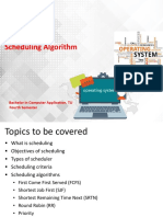 Computer Organizations Unit 3 Process Scheduling