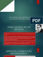 DOCUMENTOS QUE SISTEMATIZAN LA ORGANIZACIÓN DEL TRABAJO (SISTEMA)