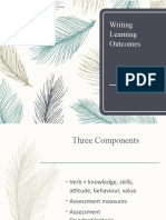 Writing Learning Outcome