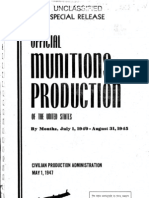 Official Munitions Productions of the US by Month July 1 1940 to August 31, 1945