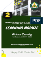 Module 2. Airport and Airline Process (Operations Management)