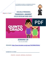 planeación 5° grado de primaria semana 20