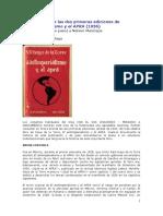 Presentación de las dos primeras ediciones de El Antiimperialismo y el APRA - Hugo Vallenas