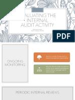 Internal Audit Activity Evaluation