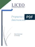 Propuesta de Intervención Manejo Grupal